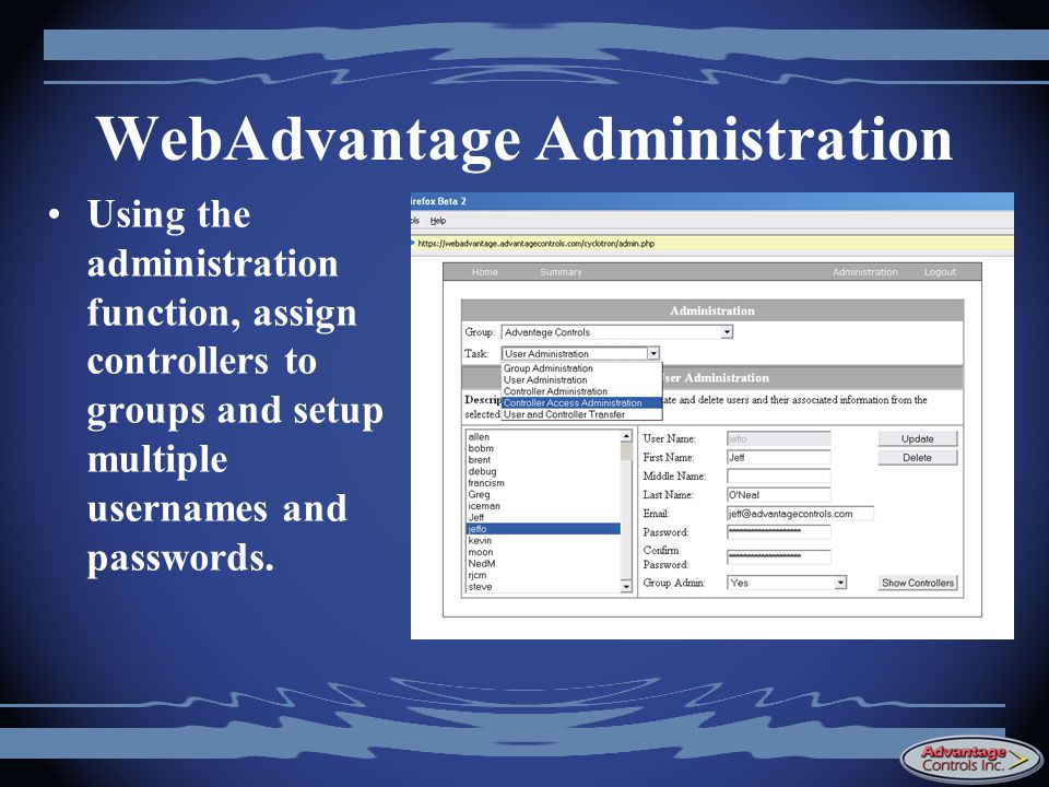 WebAdvantage Administration