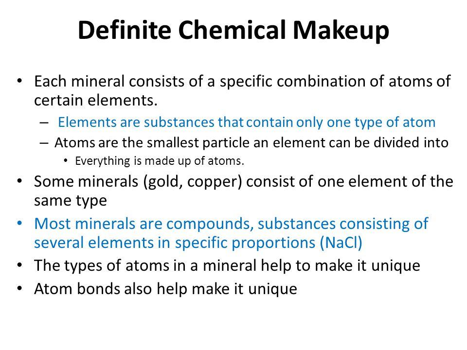 Definite Chemical Makeup