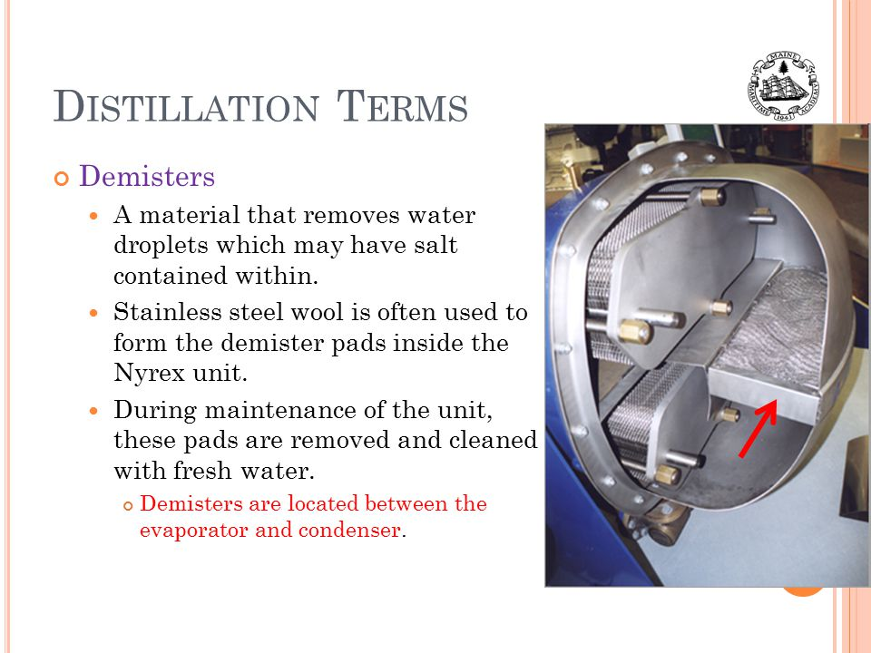 Distillation Terms Demisters