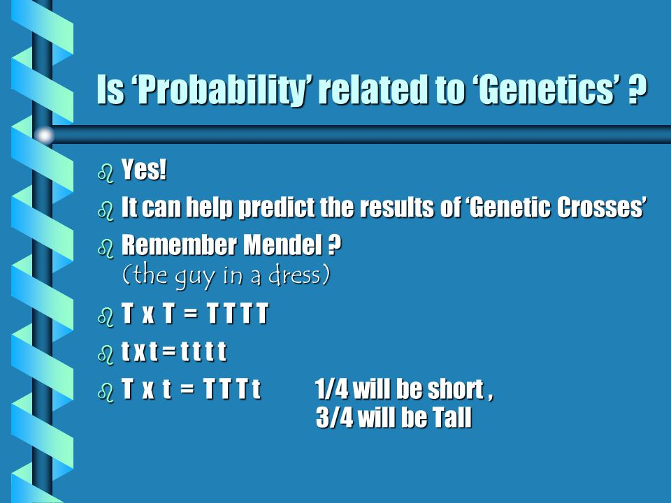 Is 'Probability' related to 'Genetics'