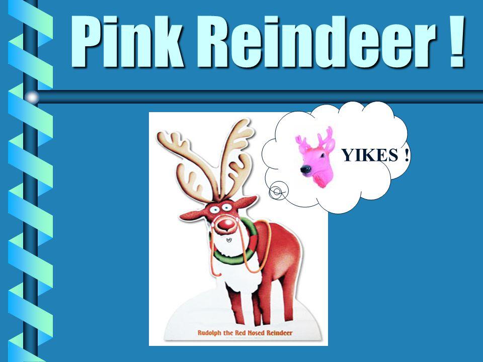 Pink Reindeer ! YIKES !