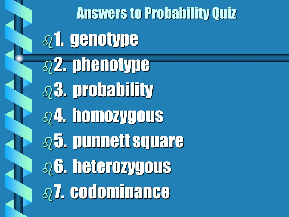 Answers to Probability Quiz
