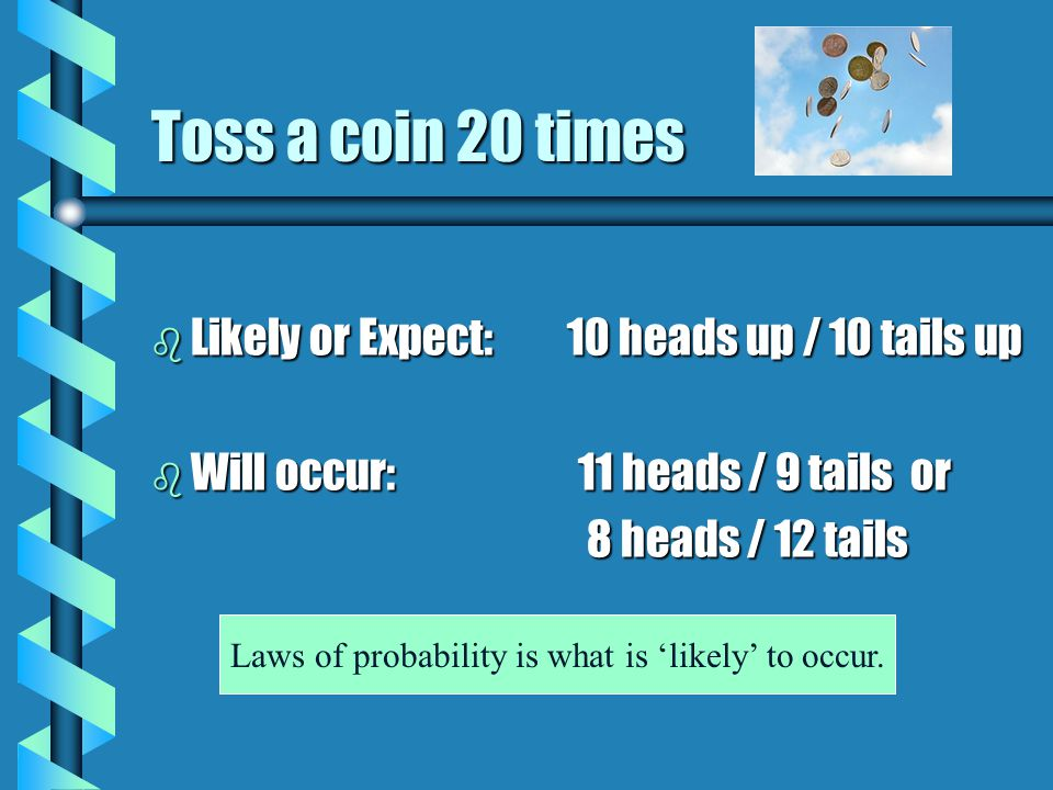 Laws of probability is what is 'likely' to occur.