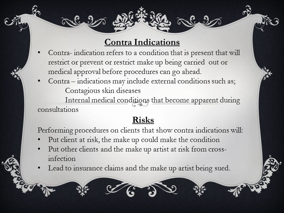 Contra Indications