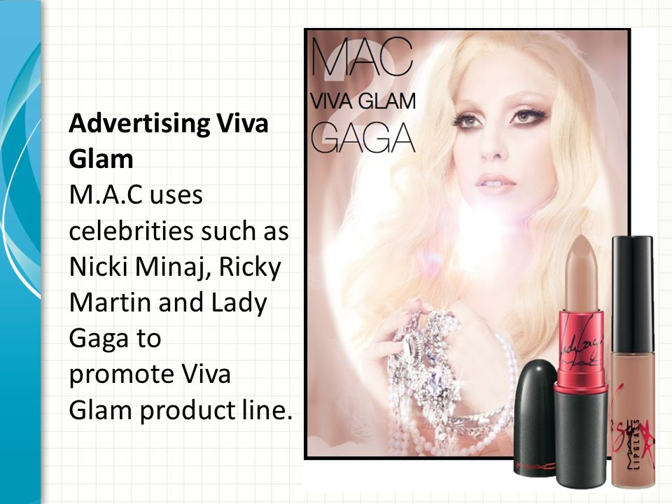 Advertising Viva Glam M. A