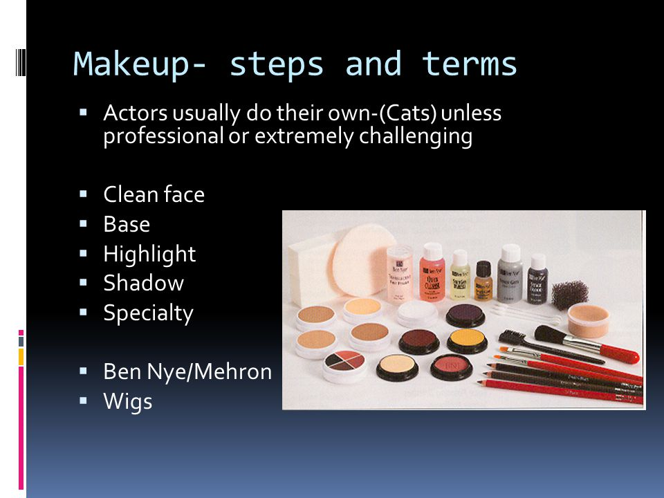 Makeup- steps and terms