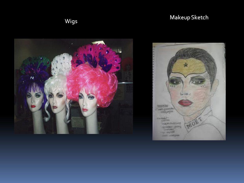 Makeup Sketch Wigs