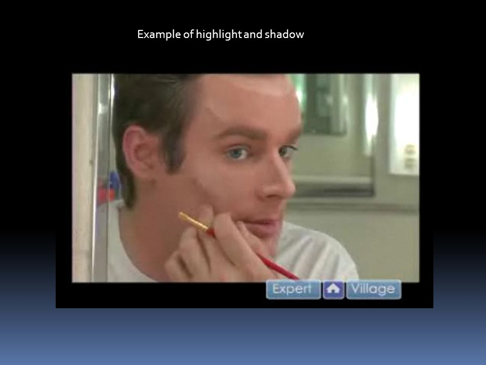 Example of highlight and shadow