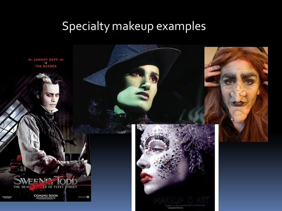 Specialty makeup examples