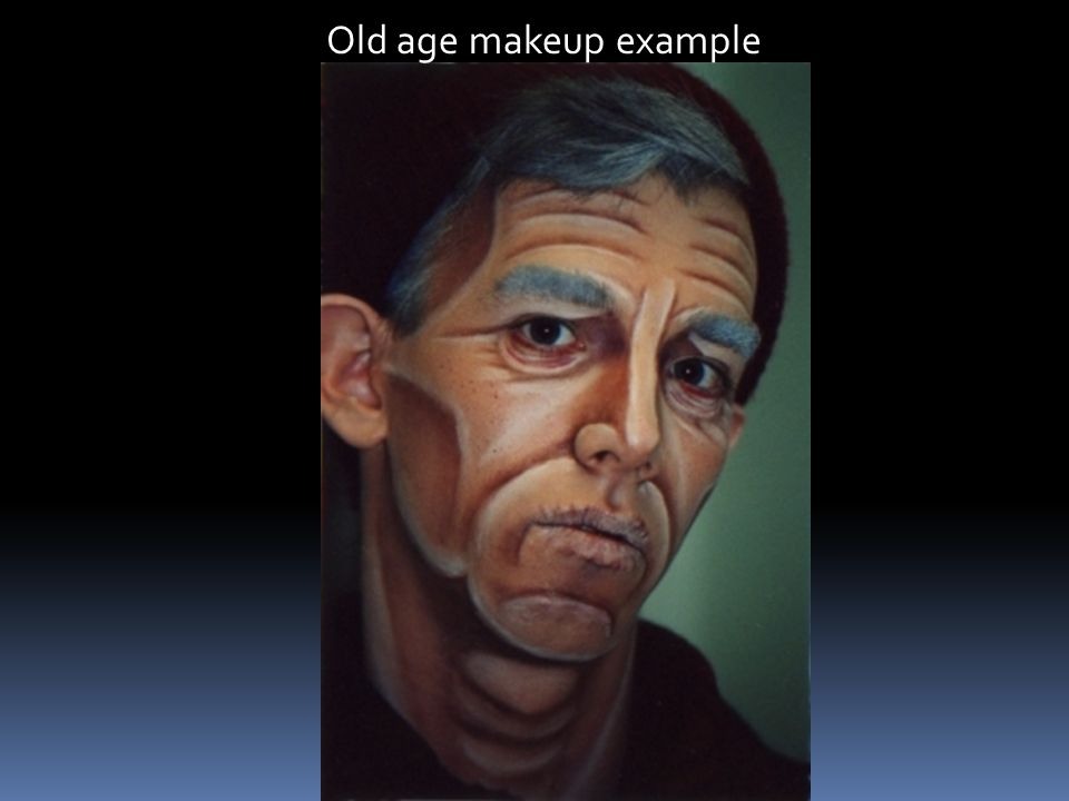 Old age makeup example