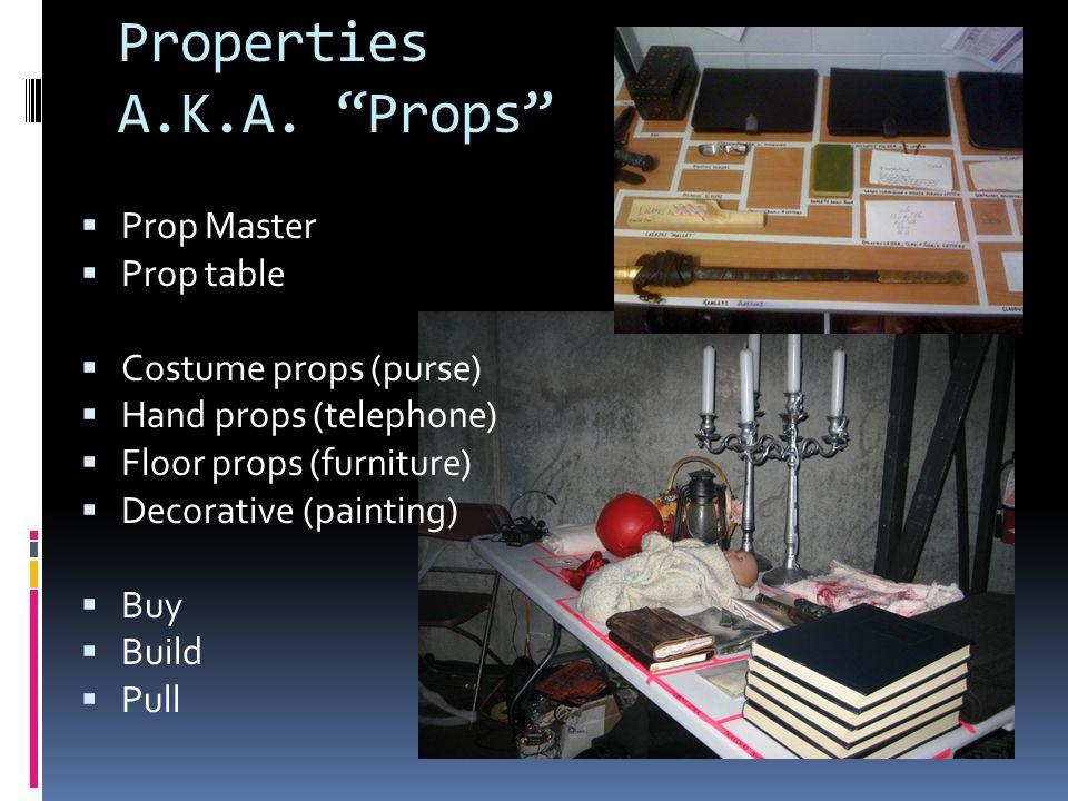 Properties A.K.A. Props