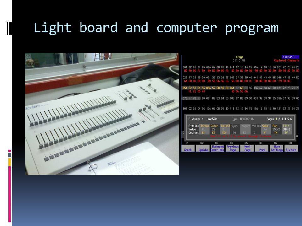 Light board and computer program