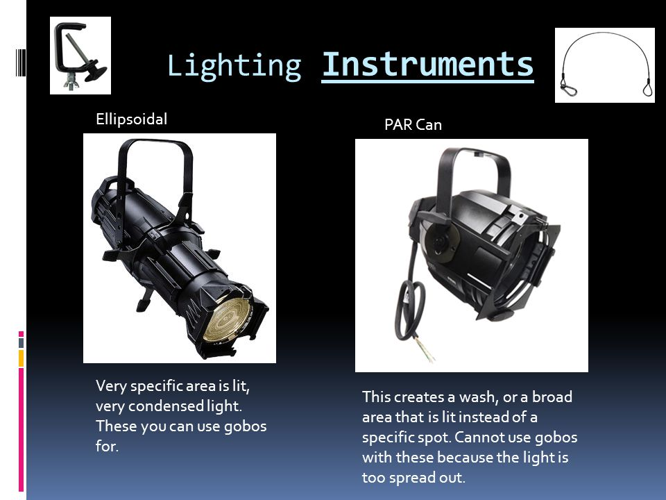 Lighting Instruments Ellipsoidal PAR Can