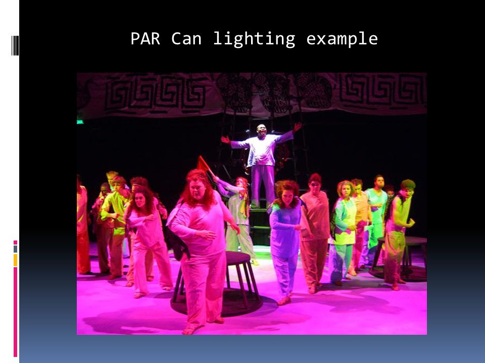 PAR Can lighting example