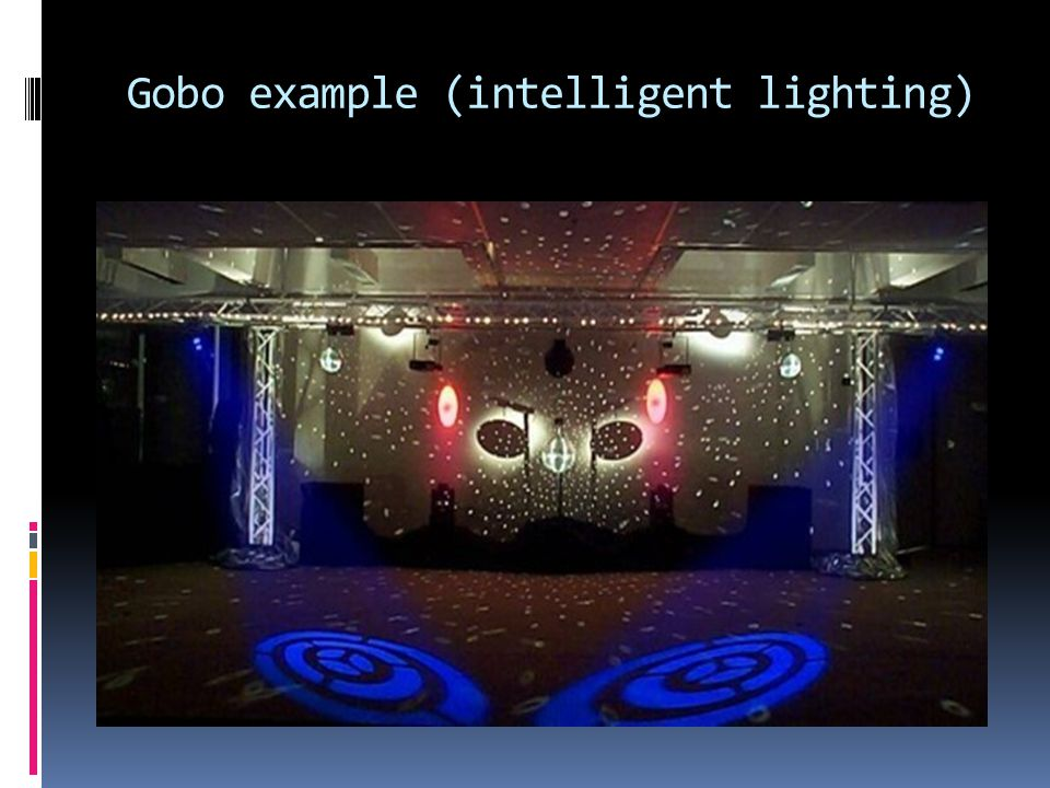 Gobo example (intelligent lighting)