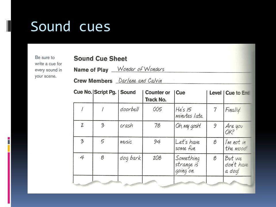 Sound cues