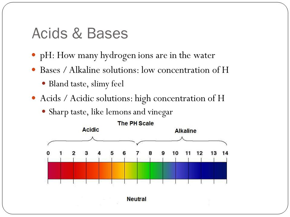 Acids & Bases pH: How many hydrogen ions are in the water