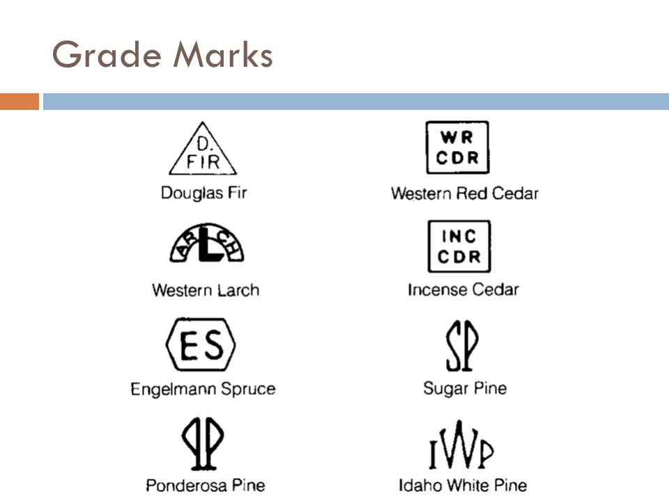 Grade Marks Some WWPA grade stamps
