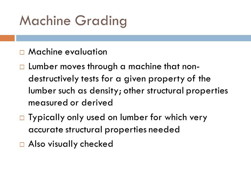 Machine Grading Machine evaluation