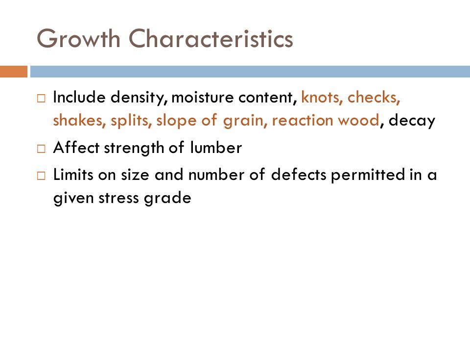 Growth Characteristics