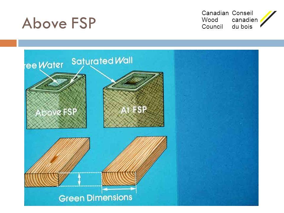 Above FSP Canadian Conseil Wood canadien Council du bois