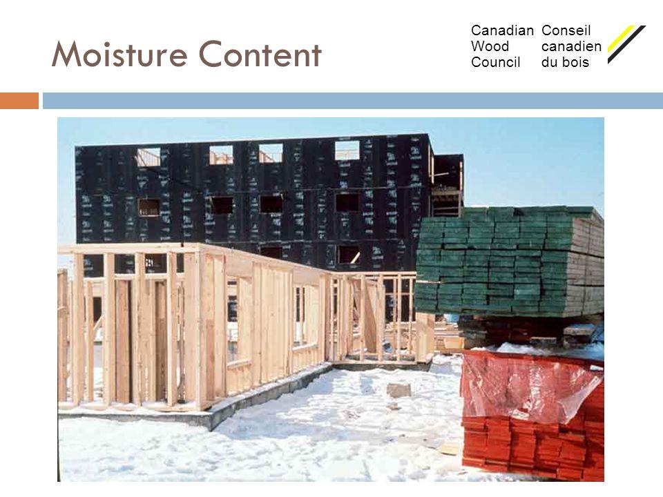 Moisture Content Canadian Conseil Wood canadien Council du bois