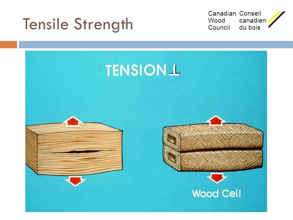 Tensile Strength Canadian Conseil Wood canadien Council du bois