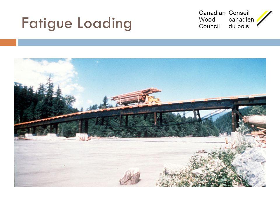 Fatigue Loading Canadian Conseil Wood canadien Council du bois