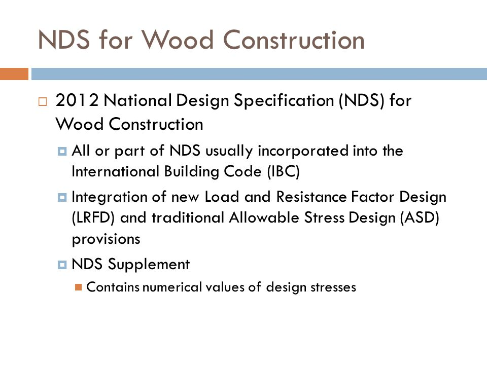 NDS for Wood Construction