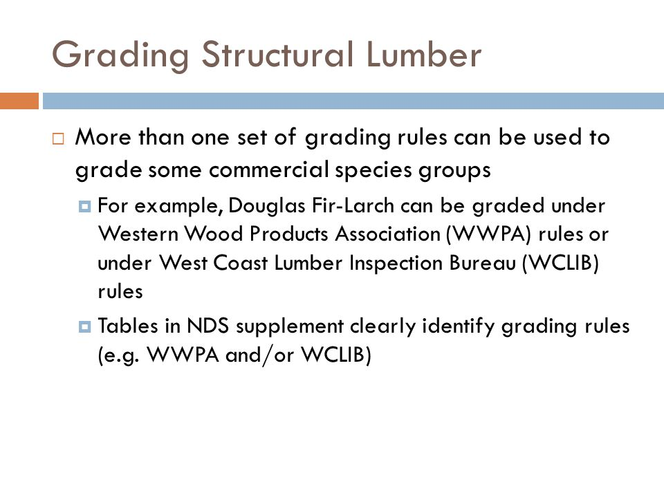 Grading Structural Lumber
