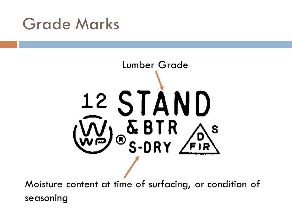 Grade Marks Lumber Grade