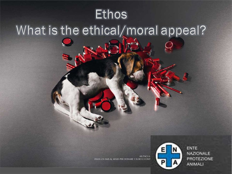 Ethos What is the ethical/moral appeal