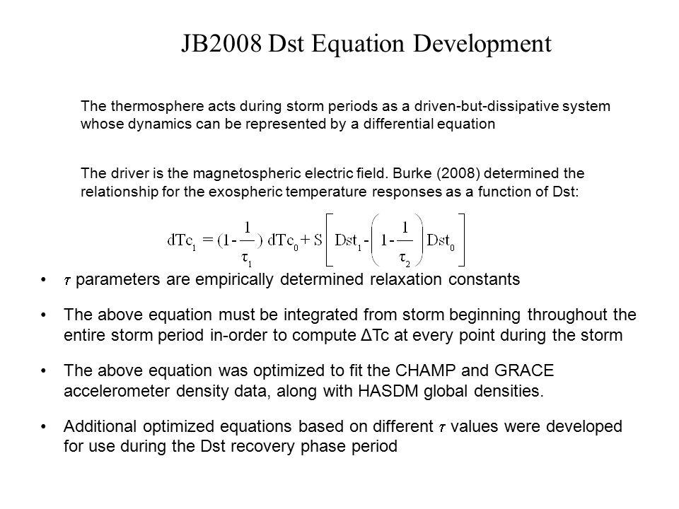JB2008 Dst Equation Development