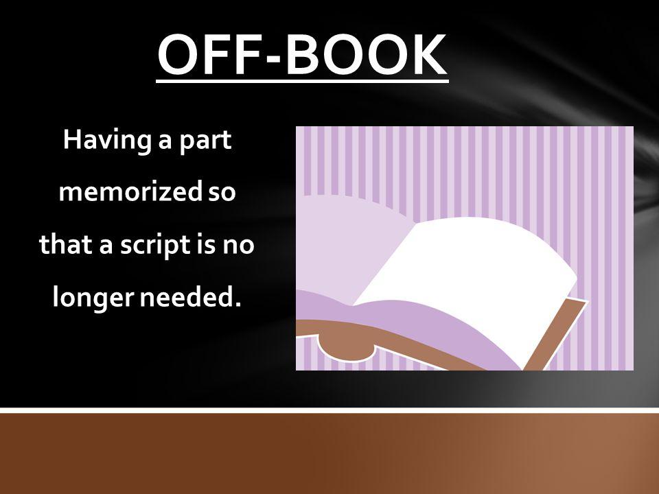 Having a part memorized so that a script is no longer needed.