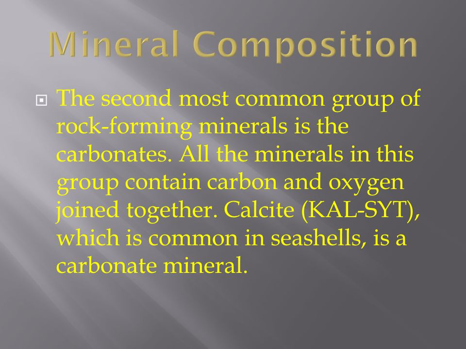 Mineral Composition