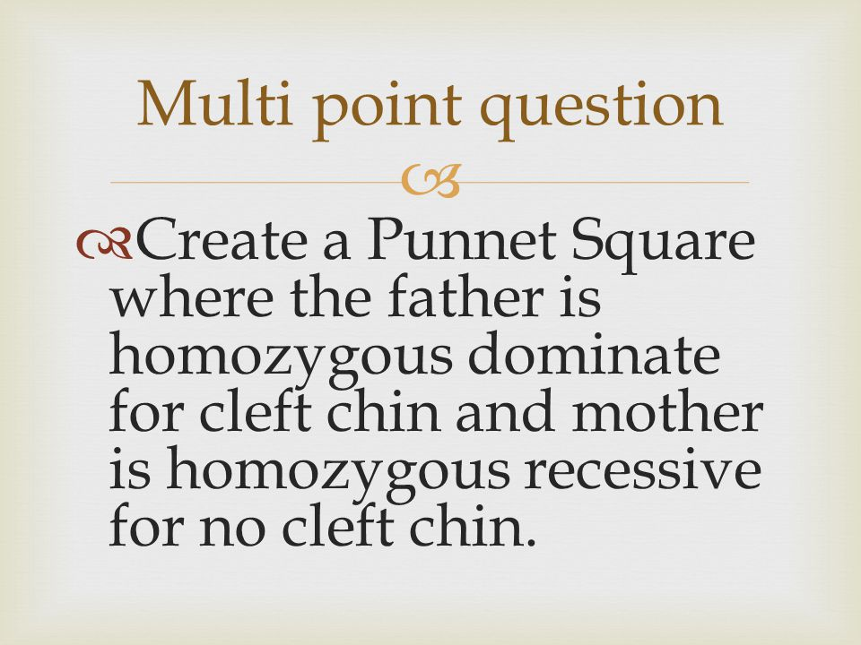 Multi point question