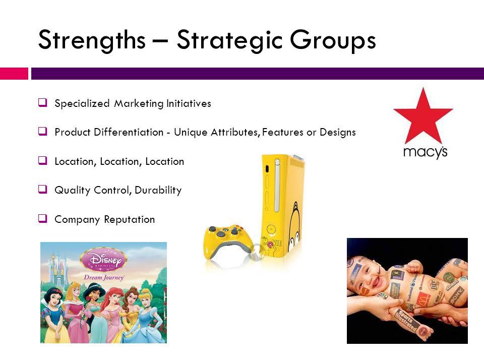 Strengths – Strategic Groups