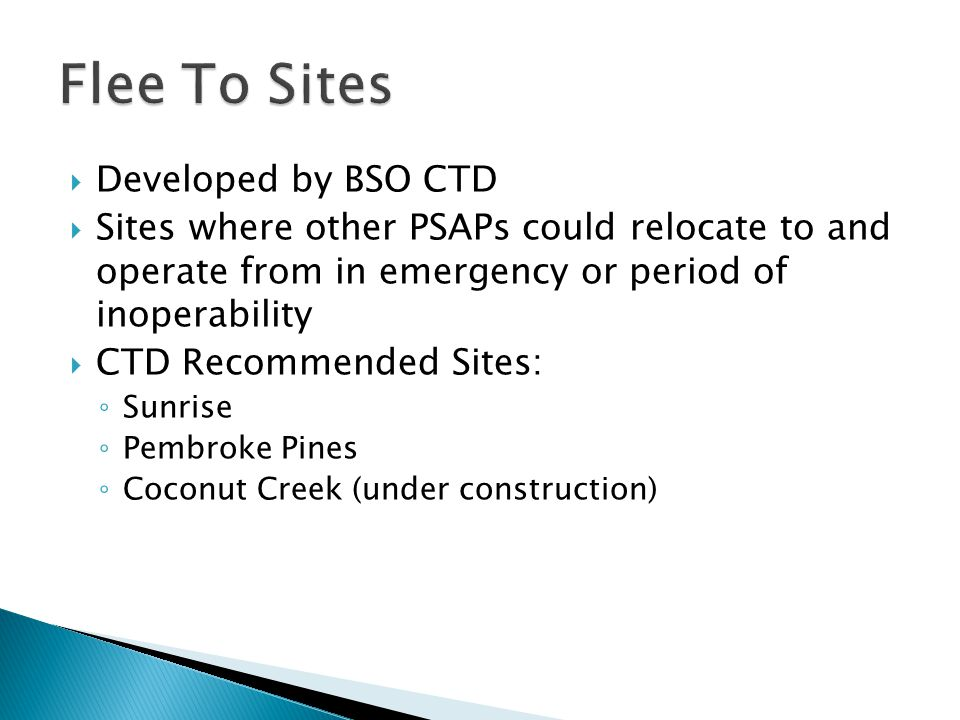 Flee To Sites Developed by BSO CTD