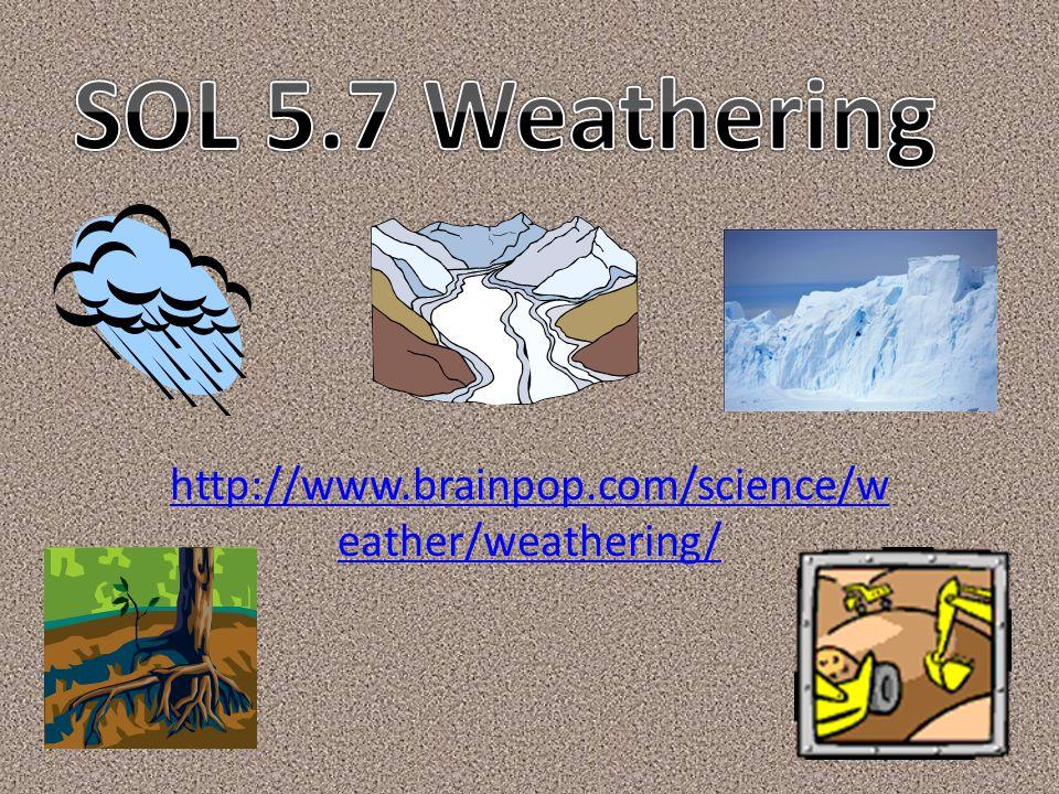 SOL 5.7 Weathering http://www.brainpop.com/science/weather/weathering/