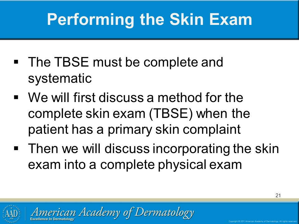 Performing the Skin Exam