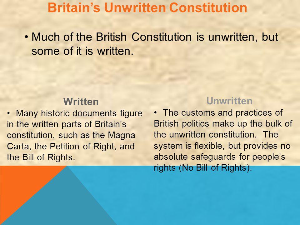 Britain's Unwritten Constitution