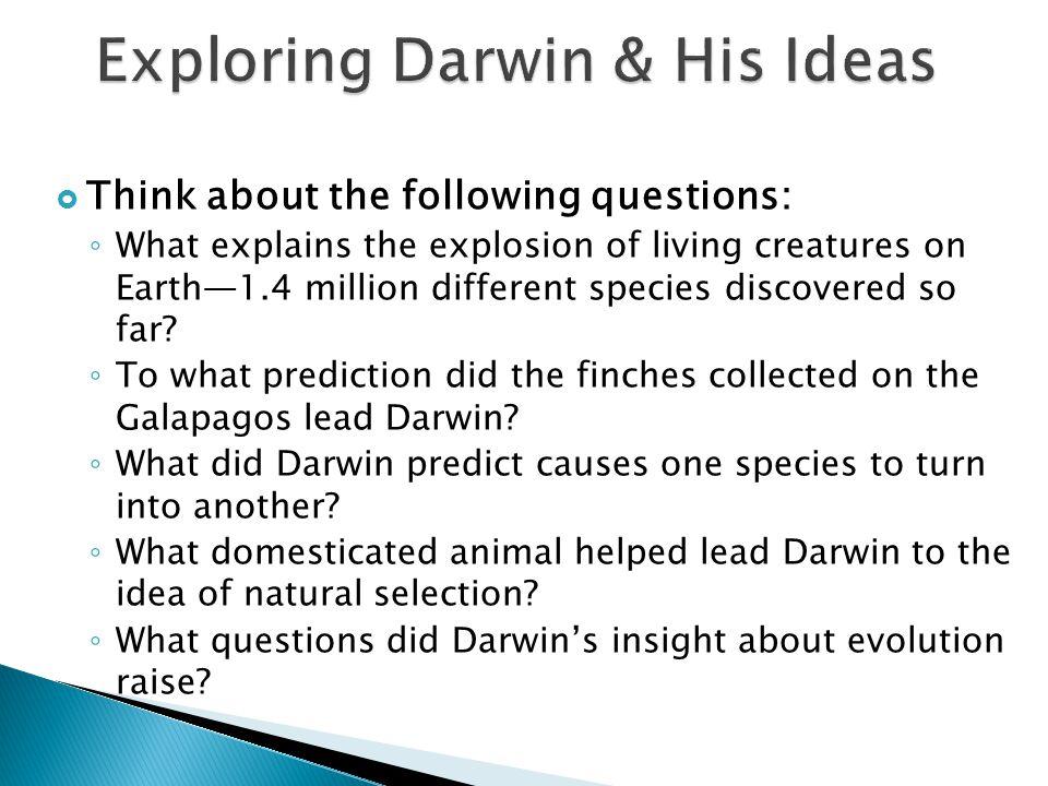 Exploring Darwin & His Ideas