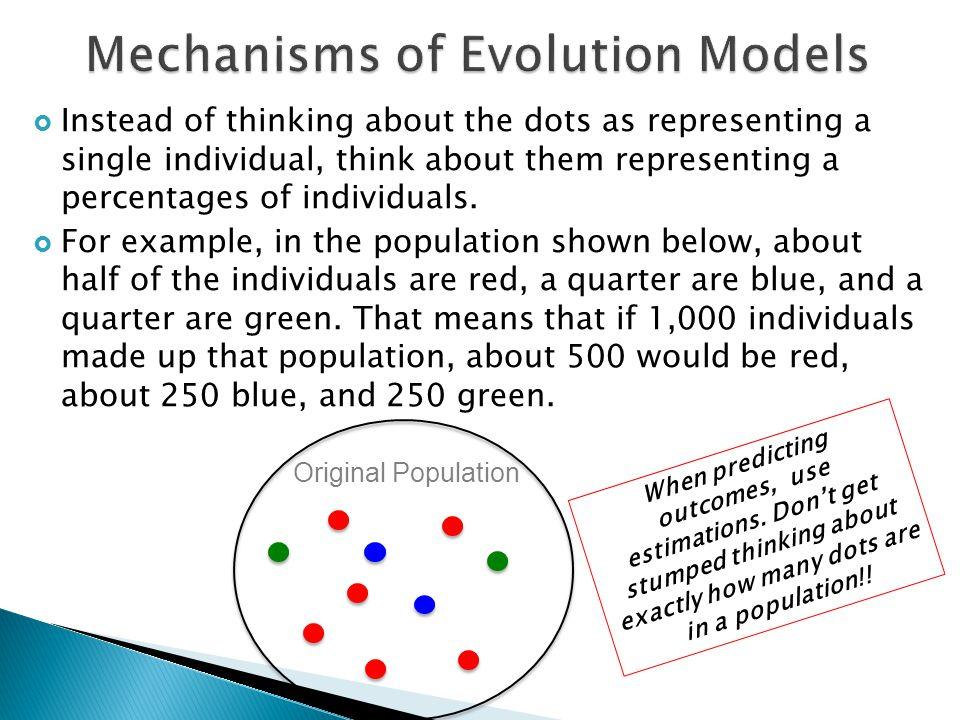 Mechanisms of Evolution Models