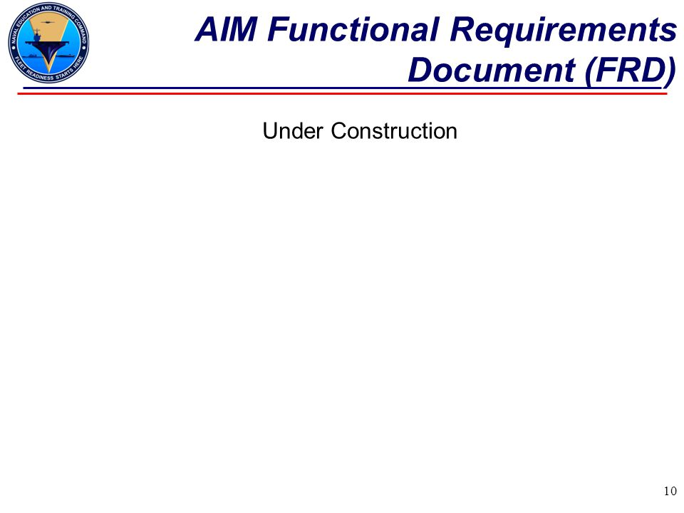 AIM Functional Requirements Document (FRD)