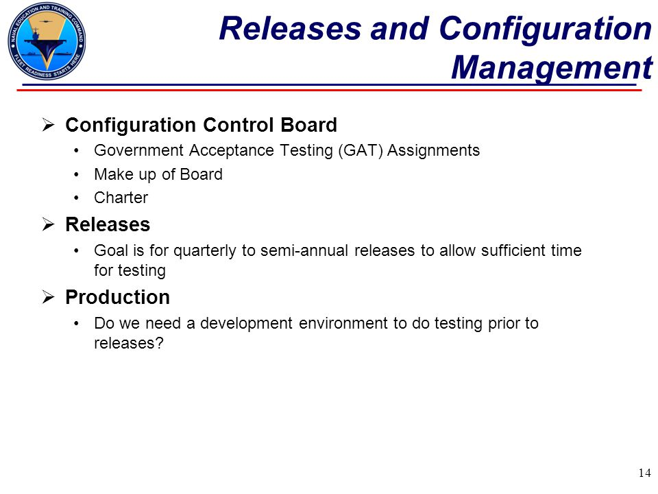 Releases and Configuration Management