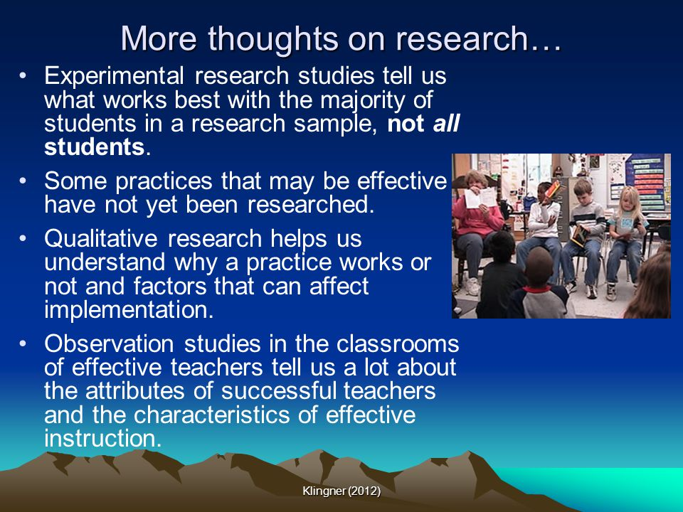More thoughts on research…