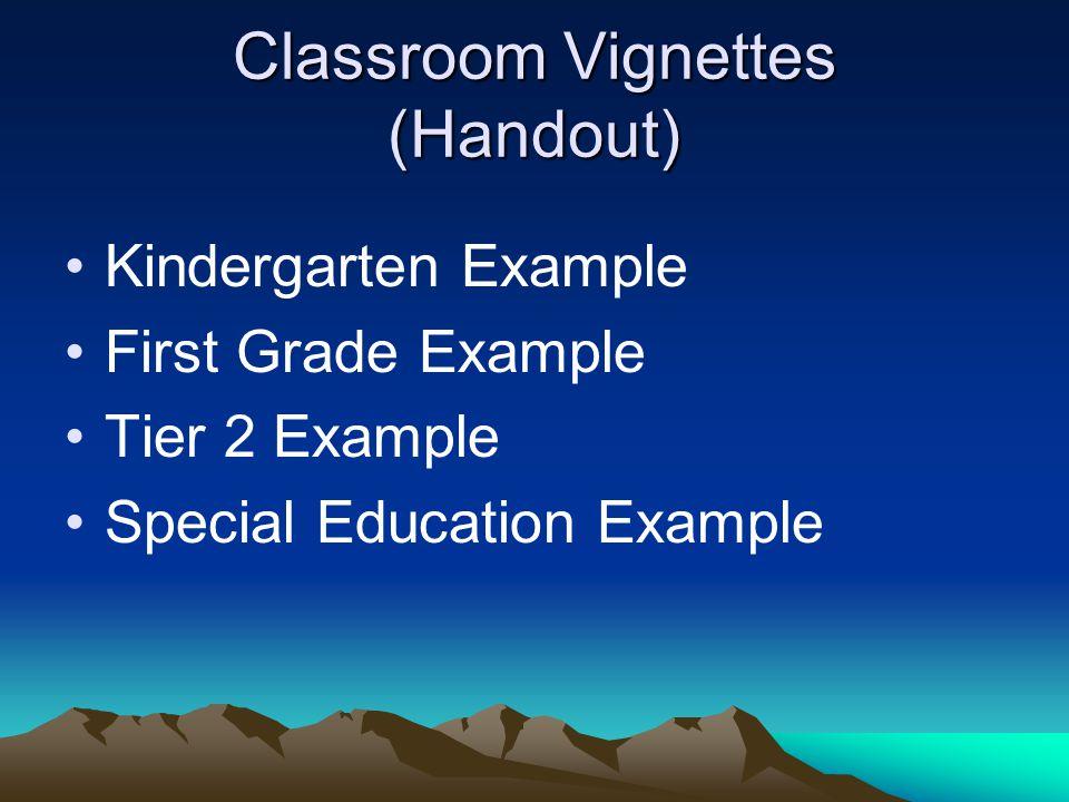 Classroom Vignettes (Handout)