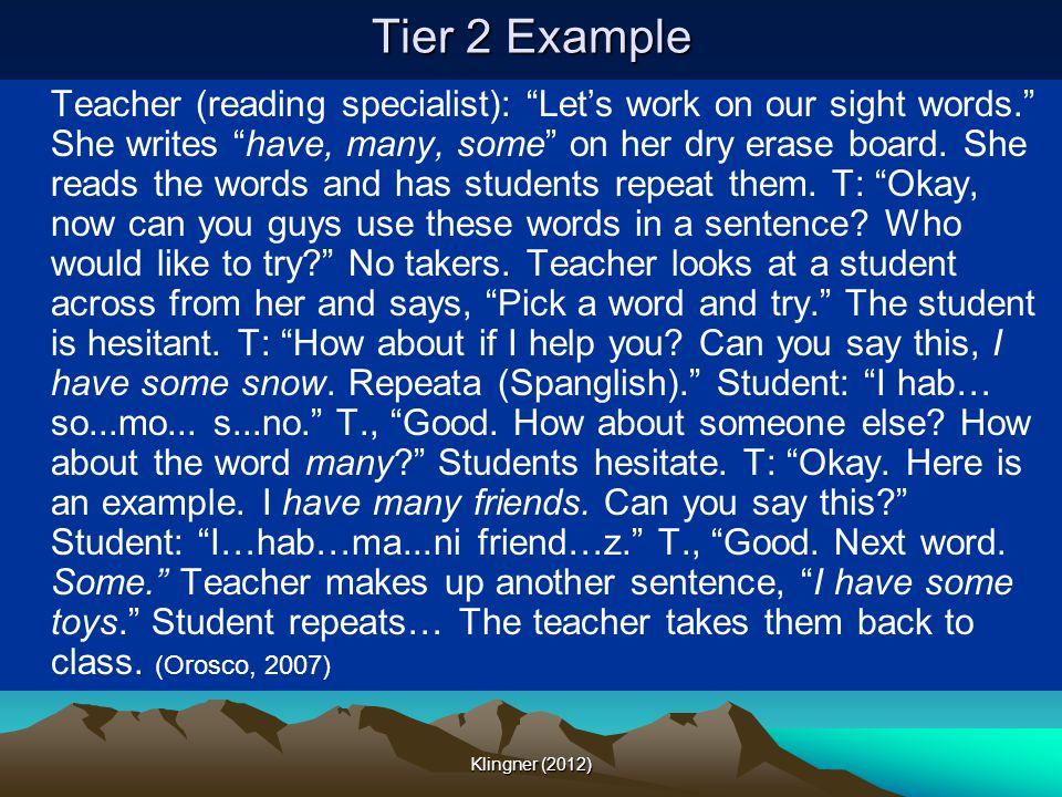 Tier 2 Example