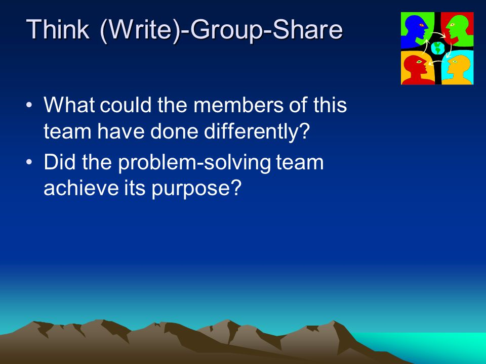 Think (Write)-Group-Share