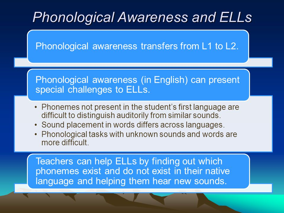 Phonological Awareness and ELLs